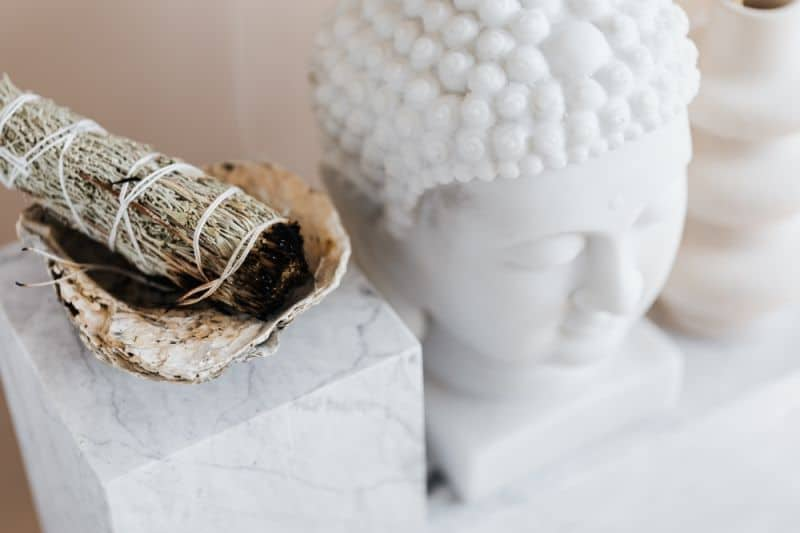 Burn herbs for cleansing